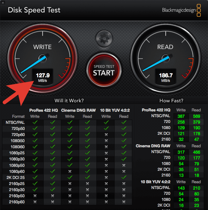 Disk speed test MacBook Pro 2011