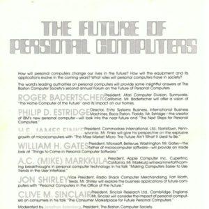 Основано Бостонское компьютерное общество