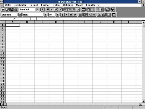 Выпущено программное обеспечение для работы с электронными таблицами Excel 4.0