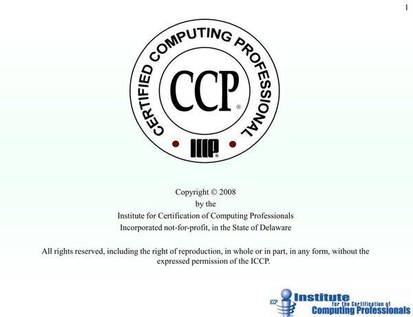 Основан ICCP (Институт сертификации компьютерных специалистов)