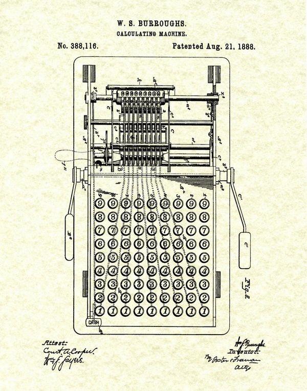 Берроуз получил патент на счетную машину