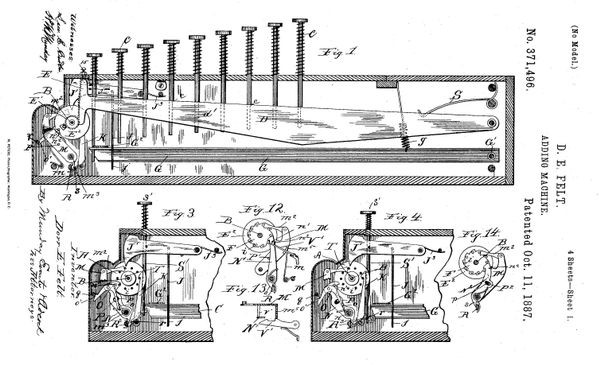 Изобретатель комптометра получил патент