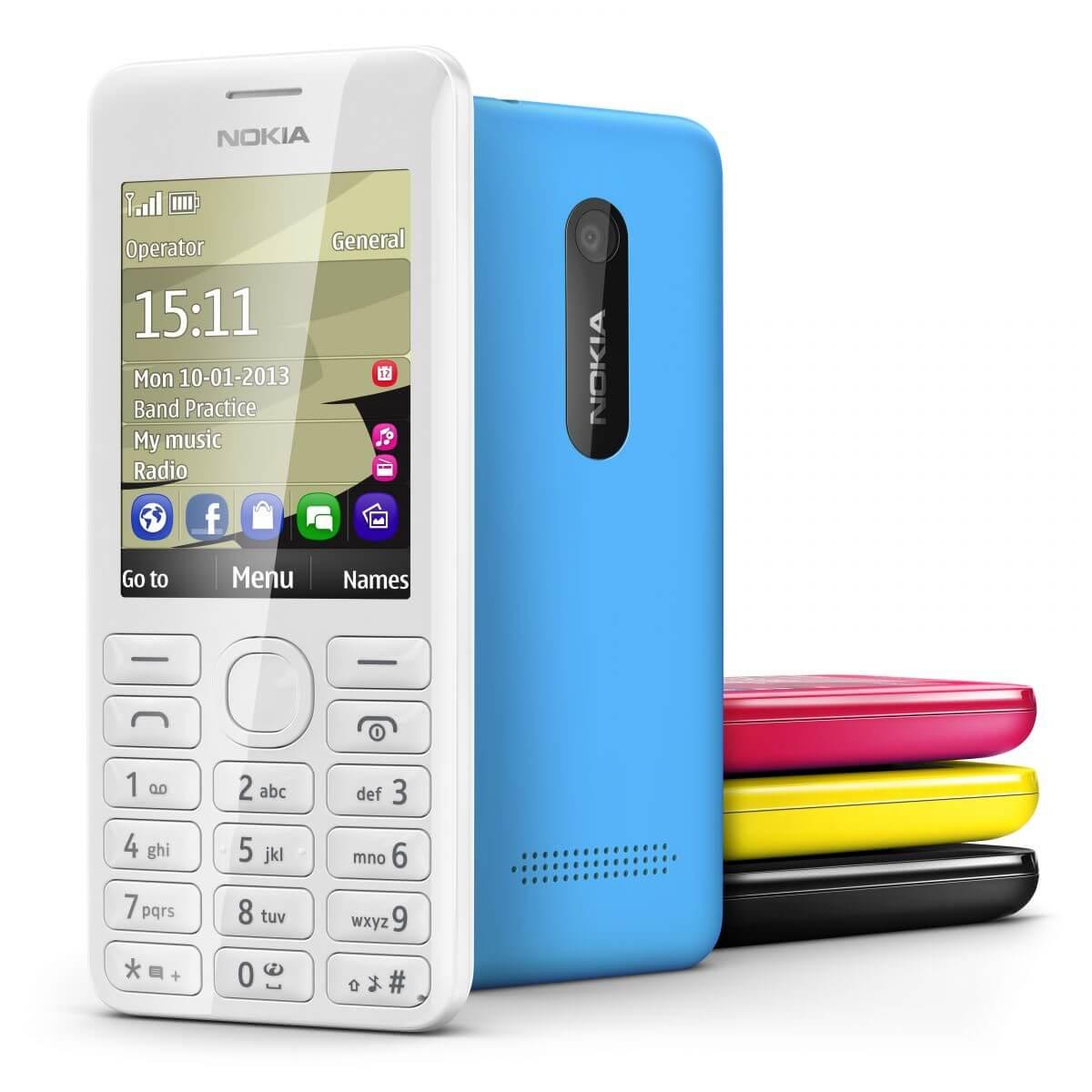 Выпущен телефон Nokia 206