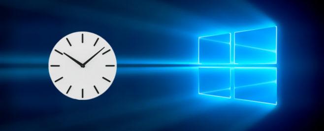 Изменение времени в ОС Windows 10