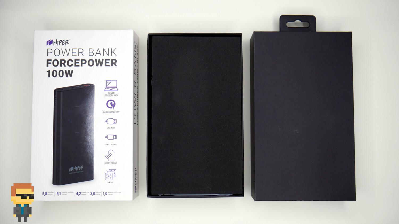 HIPER Power Bank ForcePower 100W — скоростная зарядка ноутбука и телефона без розетки