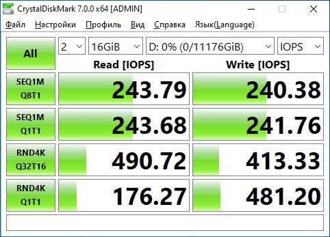 Обзор «гелиевого» HDD Toshiba X300 Performance 12 Тб — CrystalDiskInfo