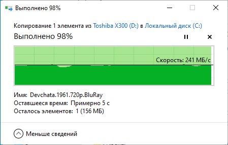 Обзор «гелиевого» HDD Toshiba X300 Performance 12 Тб — тест скорости